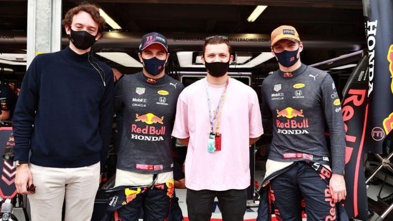 Fréderic Arnault, Checo Pérez, Holland y Verstappen