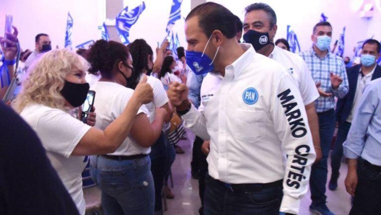 Marko Cortés en un evento del PAN