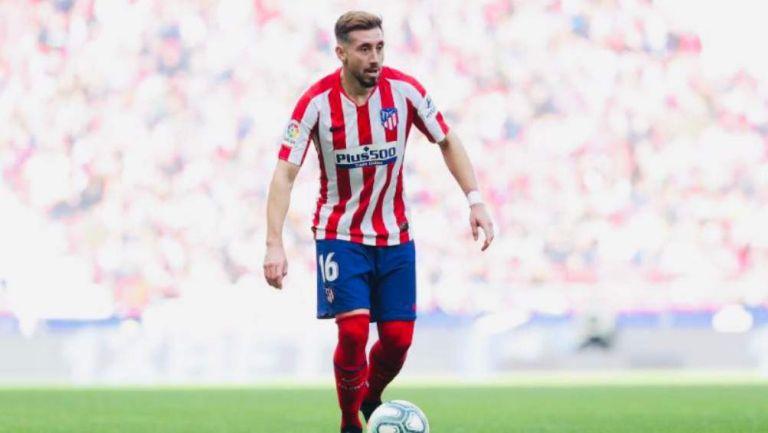 Héctor Herrera jugando con el Atlético de Madrid