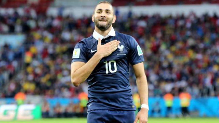Karim Benzema con la selección francesa