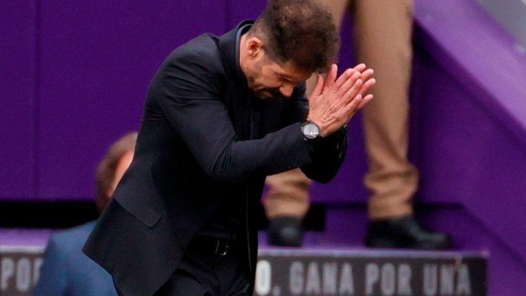 Diego Simeone en victoria vs Valladolid