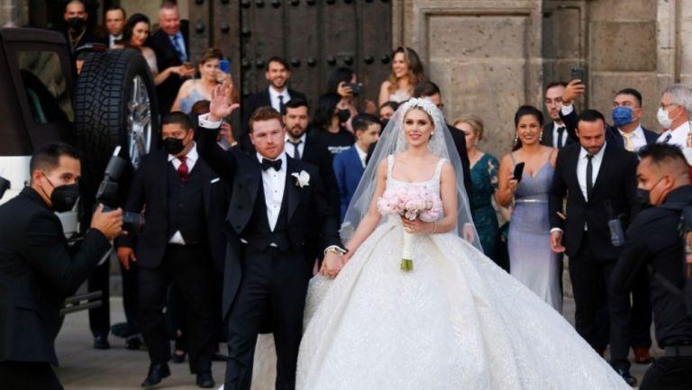 Canelo Álvarez se casó con Fernanda Gómez