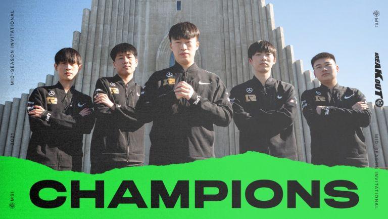 Royal Never Give Up se consagró campeón del MSI 2021