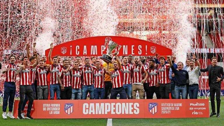 El Atlético de Madrid celebra título de LaLiga Santander 2020-21