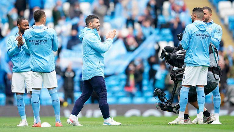 Manchester City rindió homenaje a Sergio Agüero en su partido final con el club