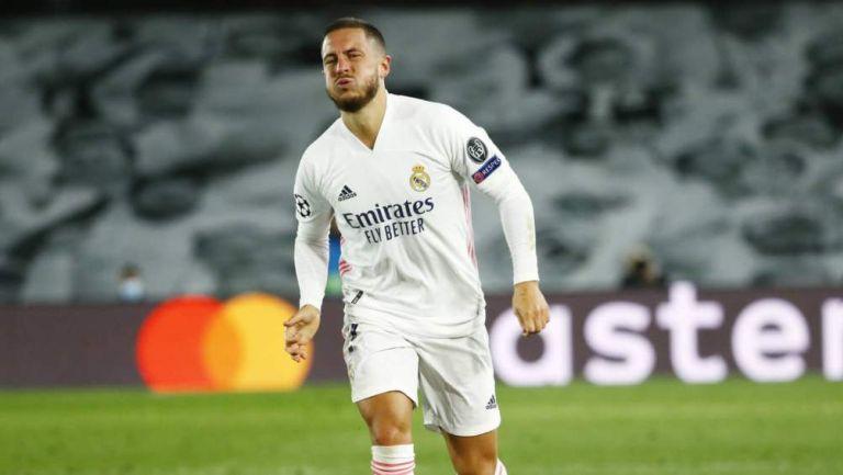 Hazard en partido con Real Madrid
