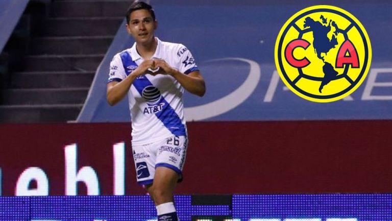 Salvador Reyes durante un partido con Puebla