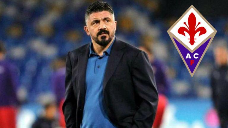 Gennaro Gattuso durante un duelo de la Serie A