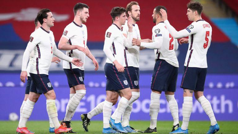 Jugadores de Inglaterra durante un compromiso