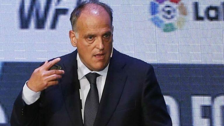 Javier Tebas, presidente de LaLiga, en conferencia