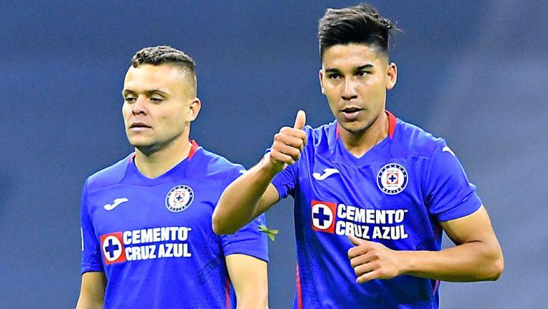 Pol Fernández en festejo de gol