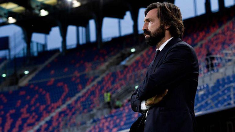 Andrea Pirlo durante un duelo de la Juventus
