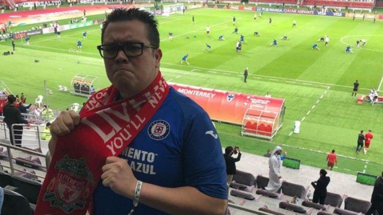 Franco Escamilla, fiel seguidor de Cruz Azul