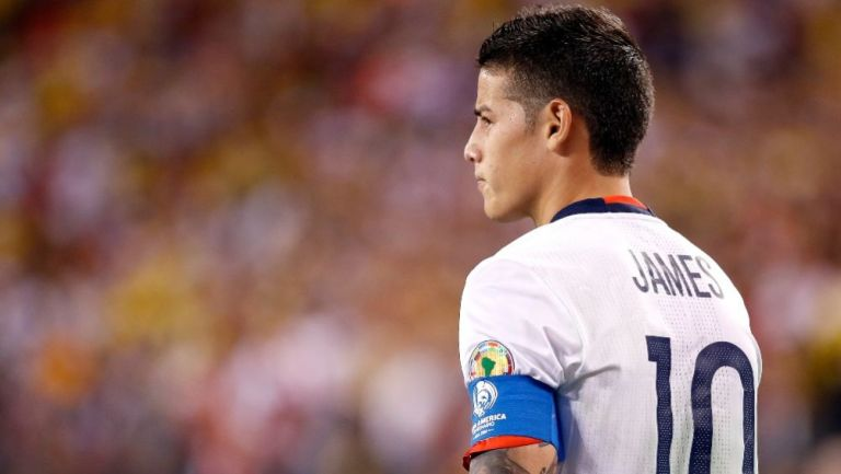 James Rodríguez en acción con Colombia
