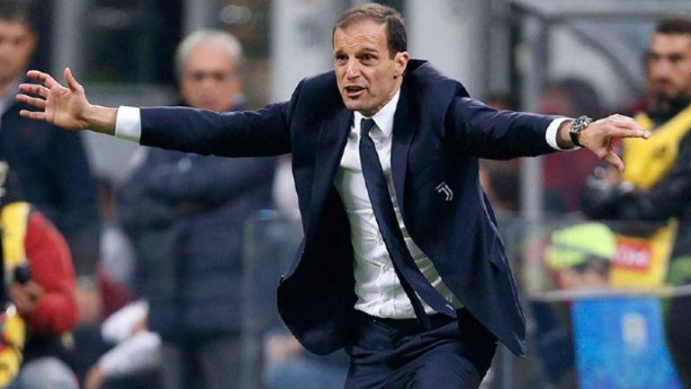 Massimiliano Allegri durante un duelo de la Juventus
