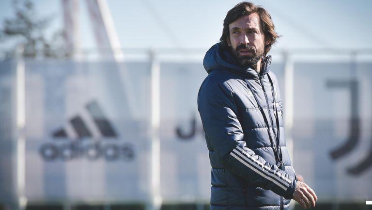 Andrea Pirlo durante un entrenamiento de la Juventus