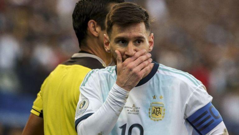 Lionel Messi durante un partido de la Selección Argentina