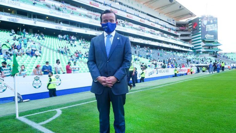 Mikel Arriola durante la Final de Santos vs Cruz Azul