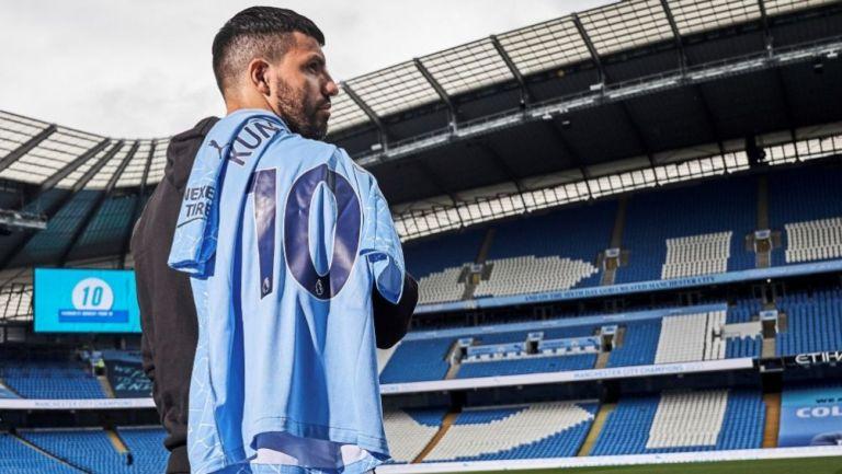 Kun Agüero se despidió de la afición del Manchester City