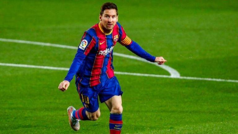 Messi en festejo de gol