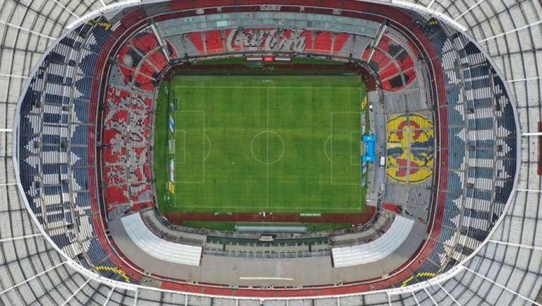 Una toma aérea del Estadio Azteca