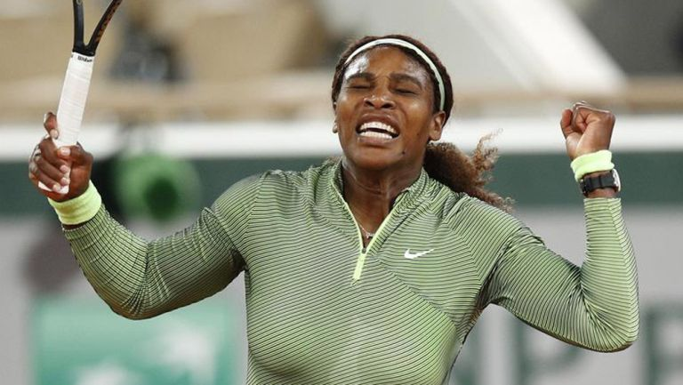 Serena Williams, en festejo tras triunfo