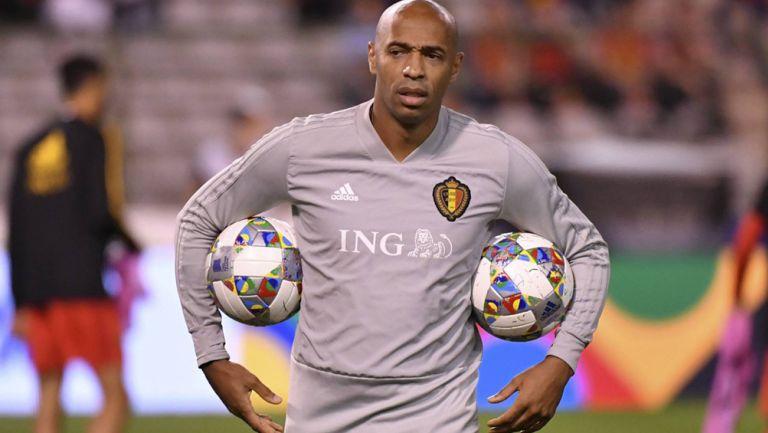 Thierry Henry, en su paso por la selección de Bélgica