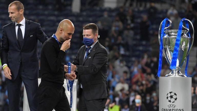 Pep Guardiola tras perder la Final ante Chelsea