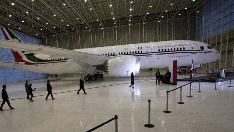 Avión presidencial en presentación