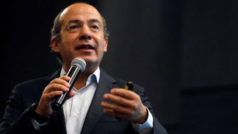 Felipe Calderón en evento público