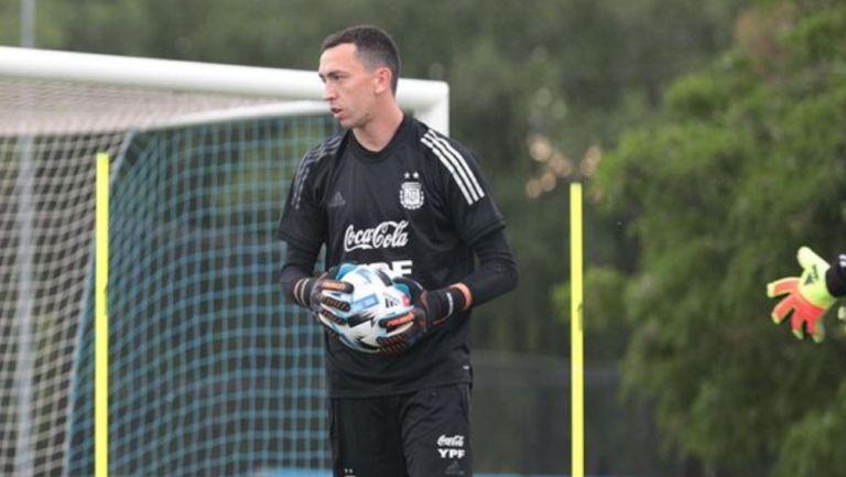 Marchesín durante un entrenamiento con Argentina