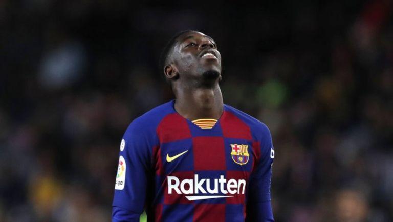 Ousmane Dembélé con el Barcelona