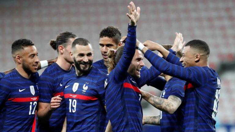 Francia en festejo de gol