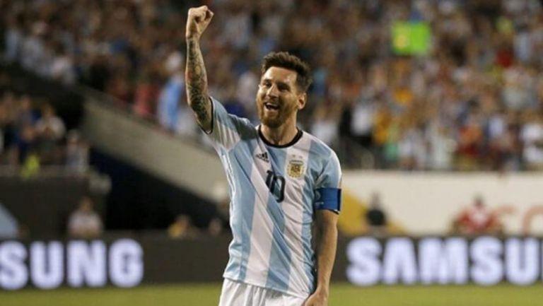 Messi en un partido con Argentina