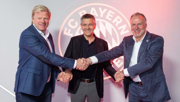 Rummenigge y Oliver Kahn tras anunciar su salida