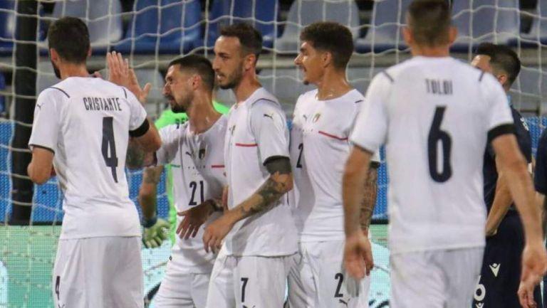 Selección de Italia en celebración