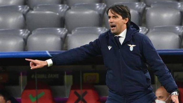 Simone Inzaghi durante su paso como DT de la Lazio