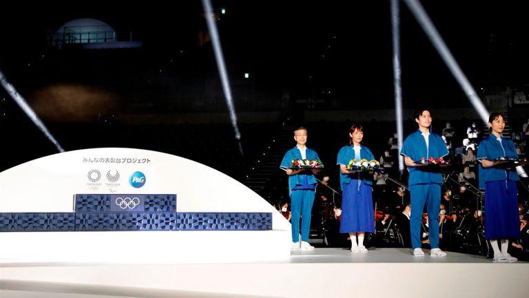 Tokio 2020 reveló podios, música y uniformes para premiaciones