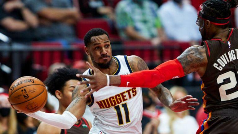 Monte Morris, suplente de los Nuggets en acción