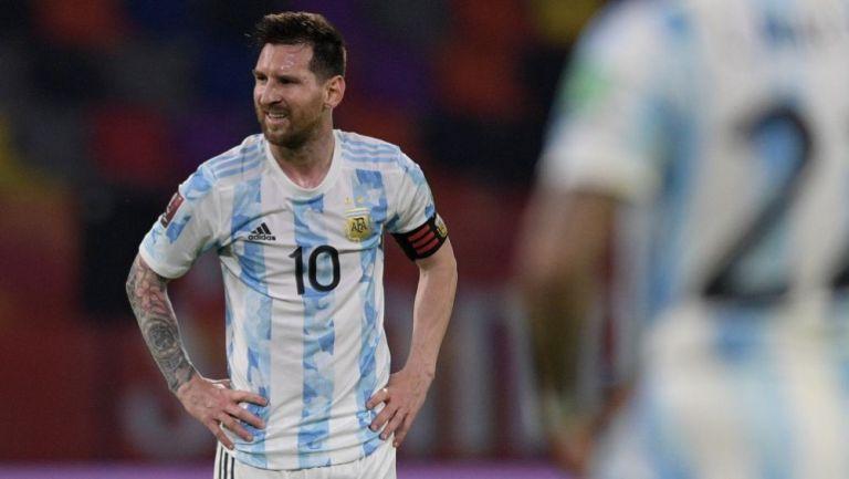 Lionel Messi en un partido con Argentina