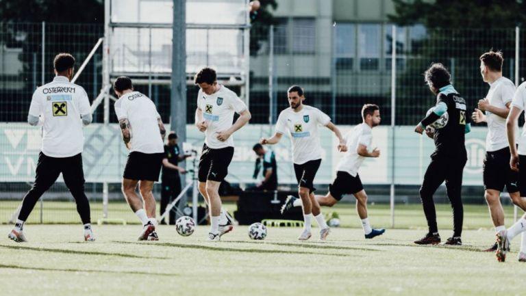 Austria en entrenamiento