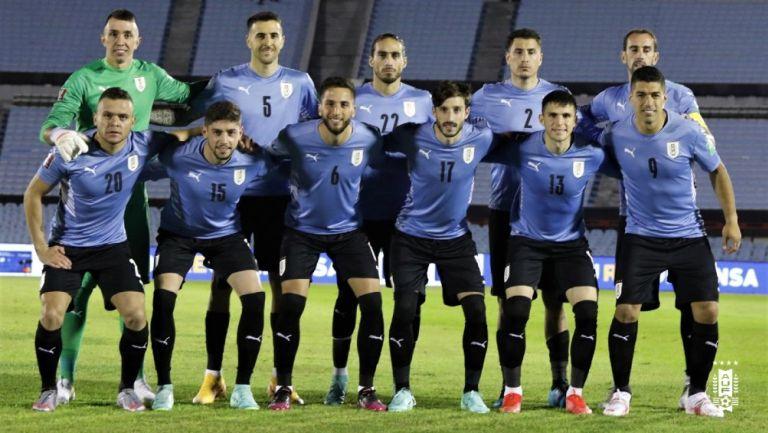 Selección Uruguaya previo a juego contra Paraguay