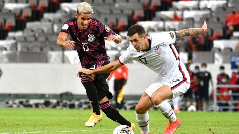 Uriel Antuna en partido contra Estados Unidos