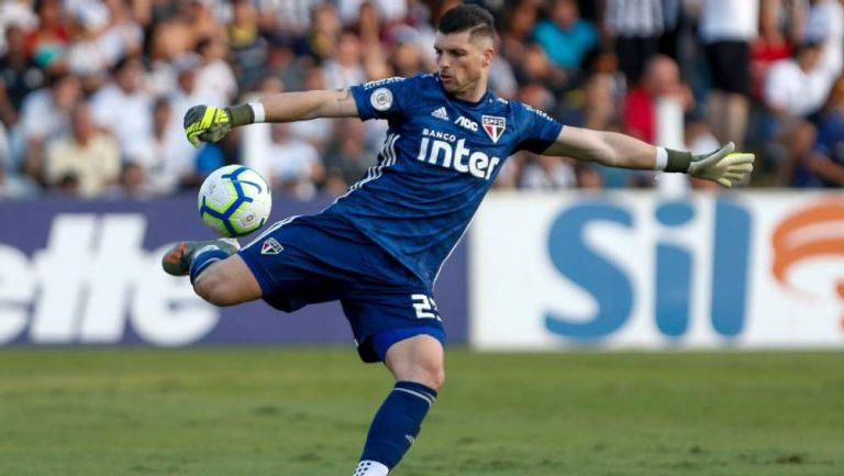 Tiago Volpi en partido