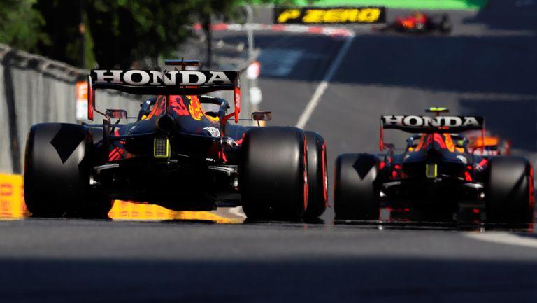 Sergio Pérez y Max Verstappen en clasificatorios de GP de Azerbaiyán