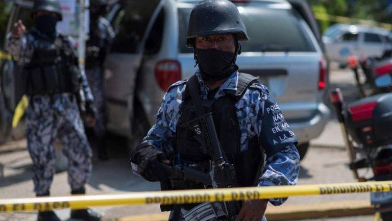 Guardia Nacional tras el ataque de un comando armado