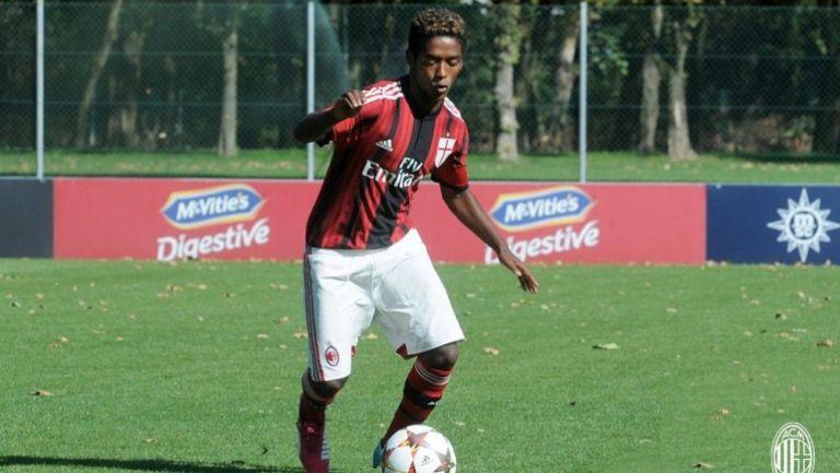 Seid Visin como jugador del Milan