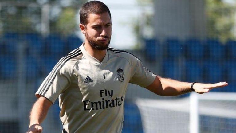 Eden Hazard en entrenamiento con el Real Madrid