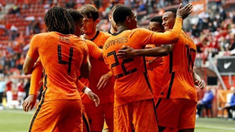 Jugadores de Países Bajos en festejo