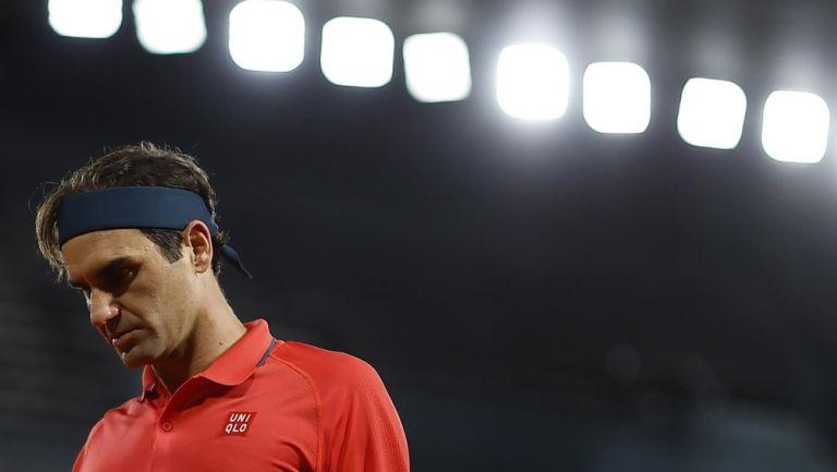 Roger Federer en acción en Roland Garros